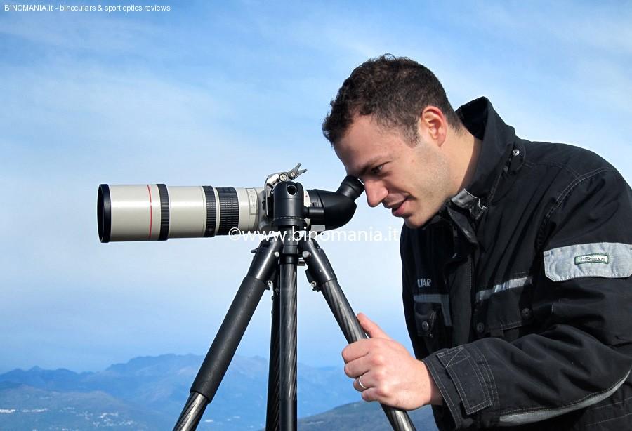 Andrea  Bertoncelloi in azione con il Lens2Scope