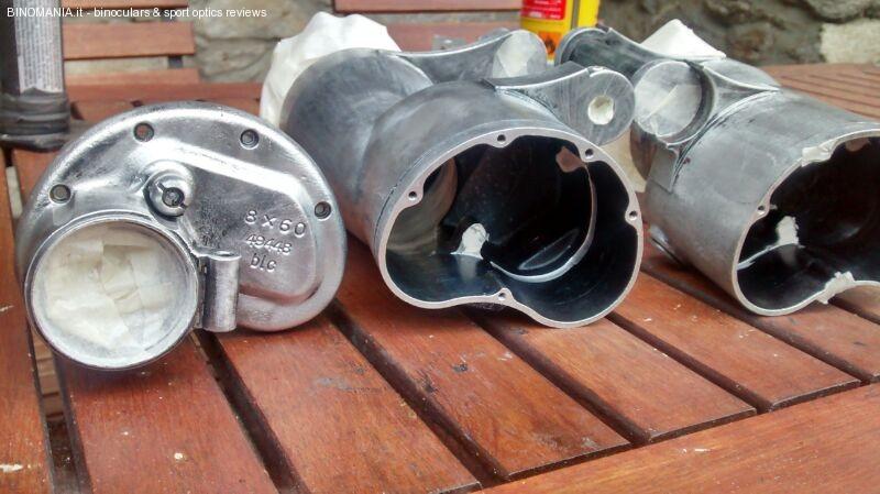 L'alluminio rimesso a nudo dopo la rimozione della vecchia verniciatura.