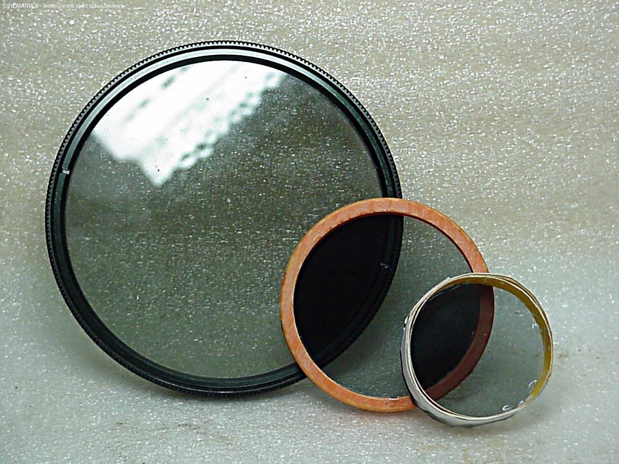 I tre filtri polarizzati