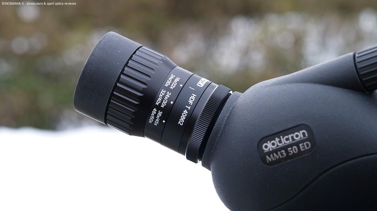 Uno dei due oculari zoom disponibili per questo piccolo telescopio.
