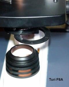 Il porta filtri usato come schermo nella Illuminazione Obliqua