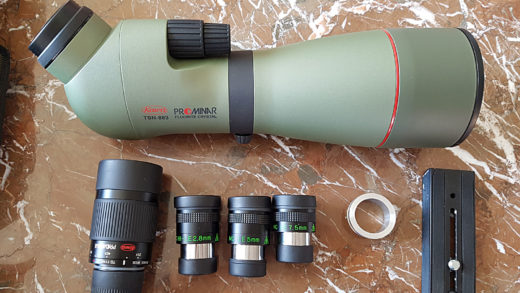 Setup Cielo e Natura: Kowa TSN-883 Prominar e accessori vari.