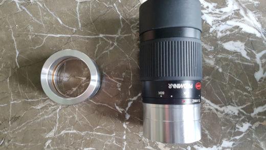 Raccordo Kowa da  due pollici per l'oculare zoom Kowa TE-11 WZ 25×60  (prototipo per Binomania).