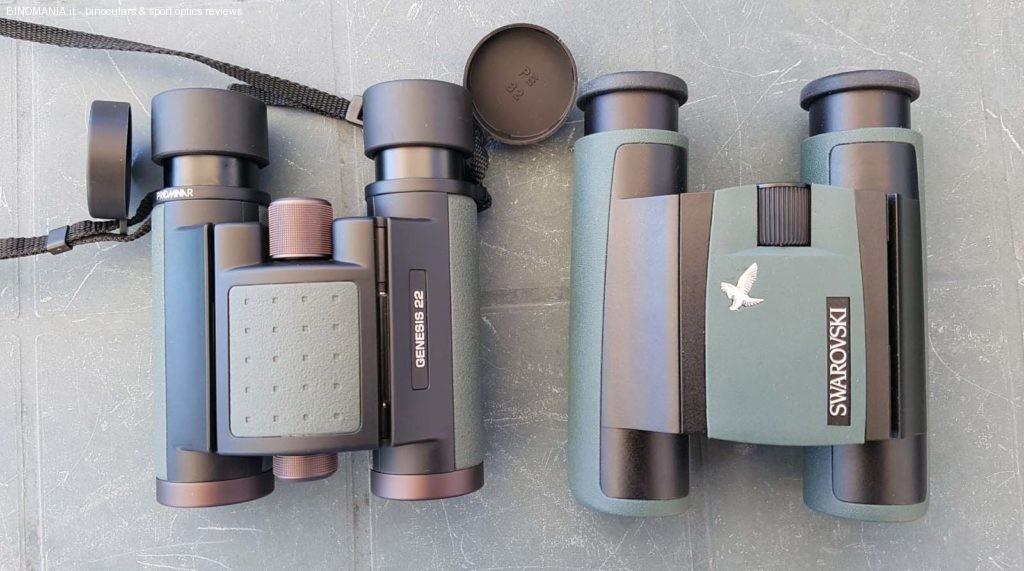 Sulla sinistra: Swarovski Pocket CL 8x25