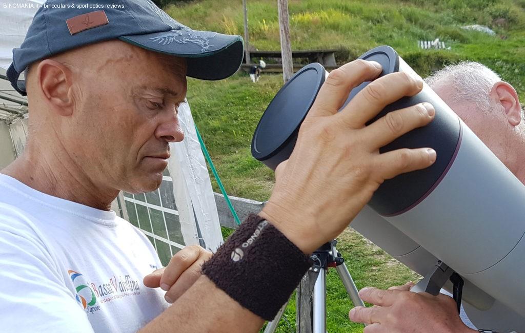 Corrado Morelli durante una fase del test.
