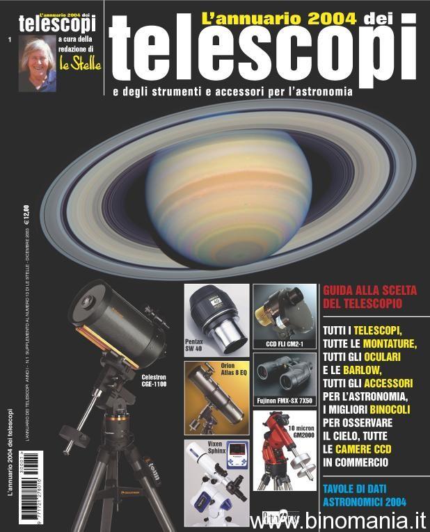Copertina dell'annuario del Telescopi di cui avevo curato la parte riguardante i binocoli