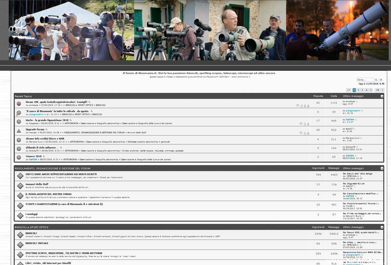 Problemi con il forum di Binomania: aggiornamento