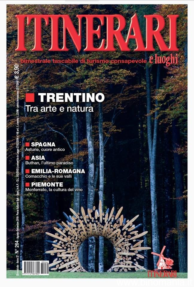 copertina rivista Itinerari e Luoghi- Luglio-Agosto 2018