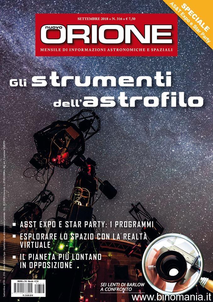 la copertina del numero speciale di Nuovo Orione, Settembre 2018