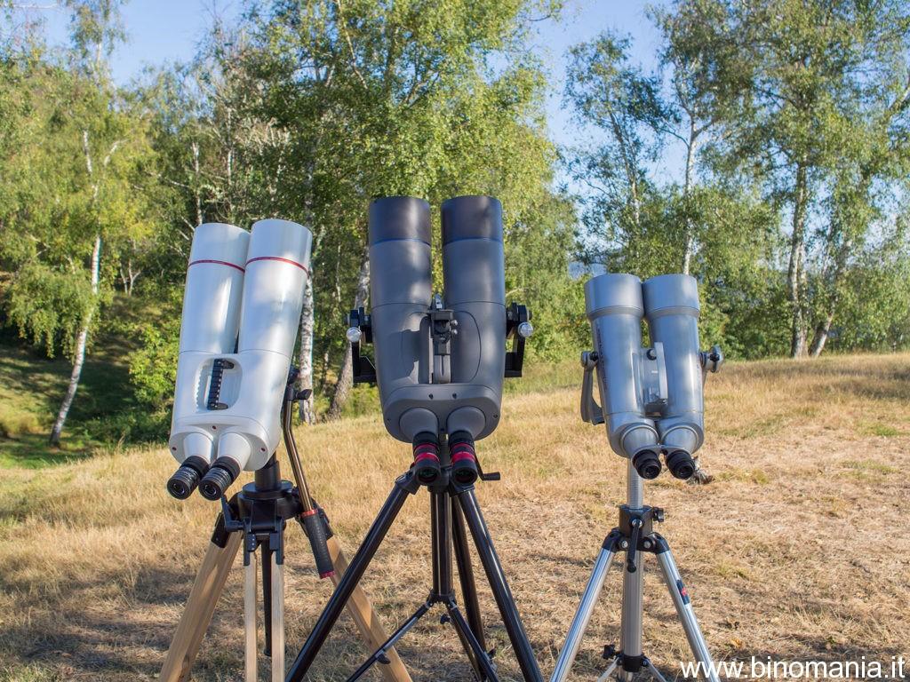 Tutto pronto per la sfida sul campo. Poca teoria, molta pratica. Da sinistra: Oberwerk BT-100-XL-ED, APM 100 ED APO, Miyauchi 100