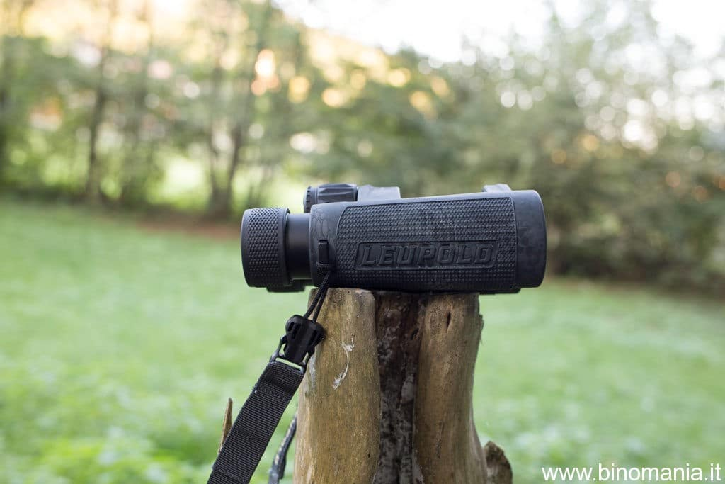 Leupold BX-4 PRO GUIDE HD poggiate su un tronco