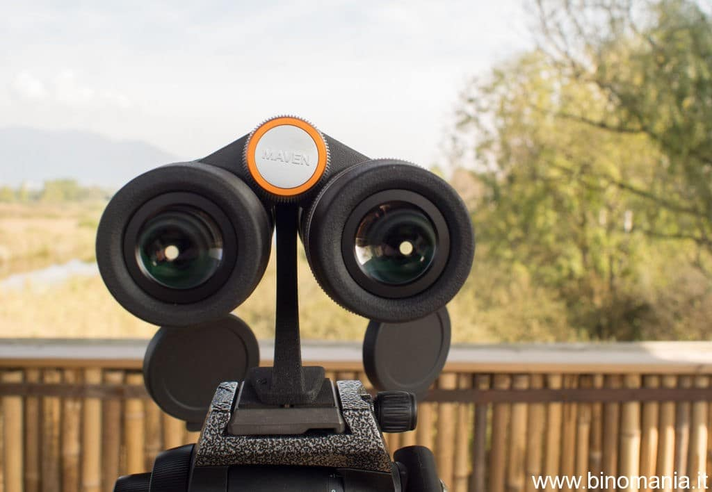 Gli oculari del binocolo Maven B4 15x56