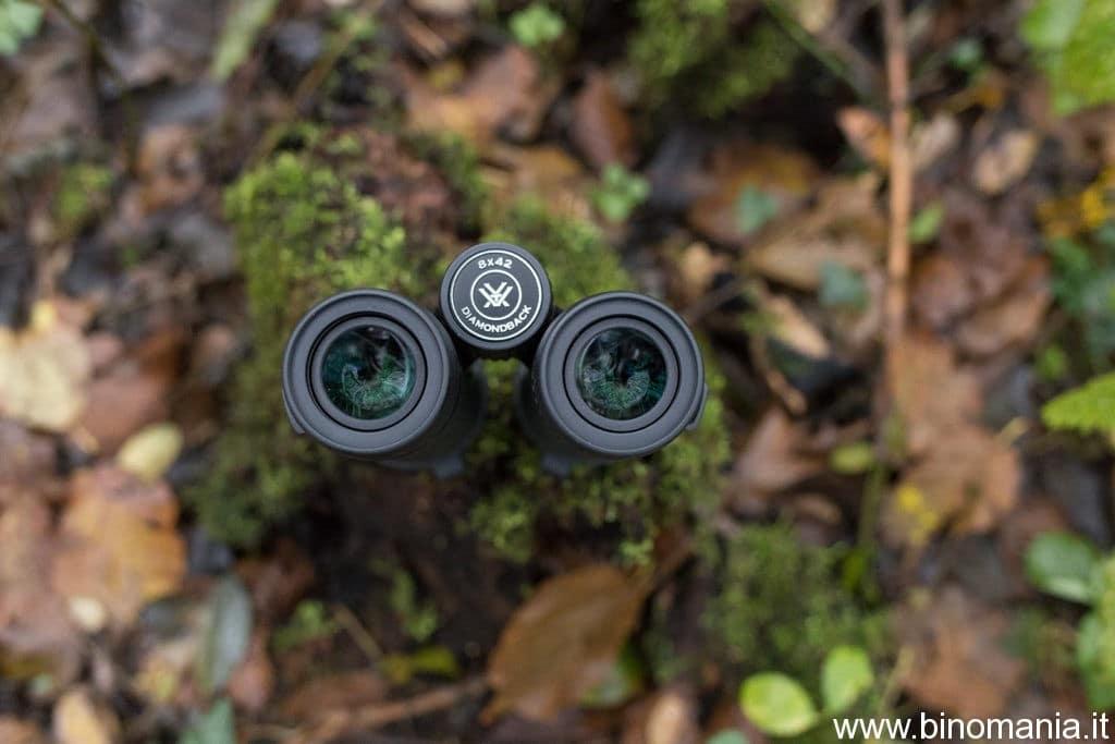 Gli oculari del binocolo Vortex Diamondback 8x42