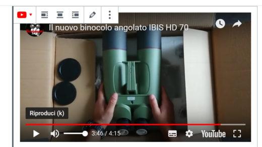 Unboxing del binocolo IBIS HD 70