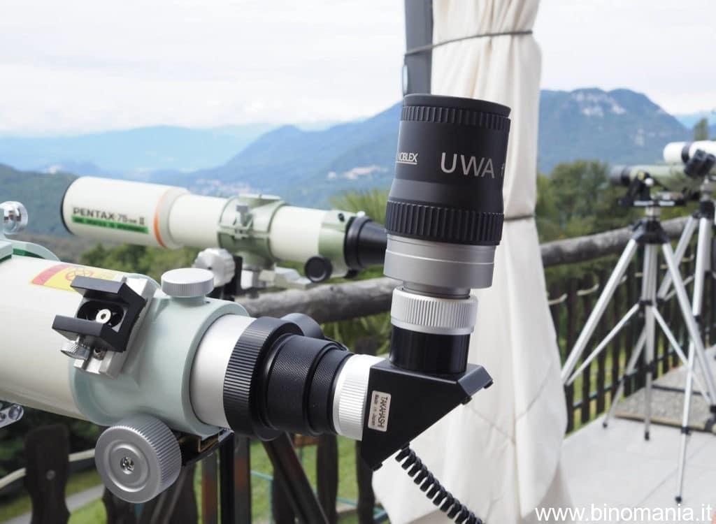 Il Docter UWA 12.5mm montato sull'eccellente Takahashi Fc 76