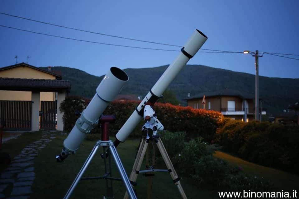 Il Takahashi FS128 sembra un rifrattore da 80 mm, quando comparato al Tecnosky 154 F/15