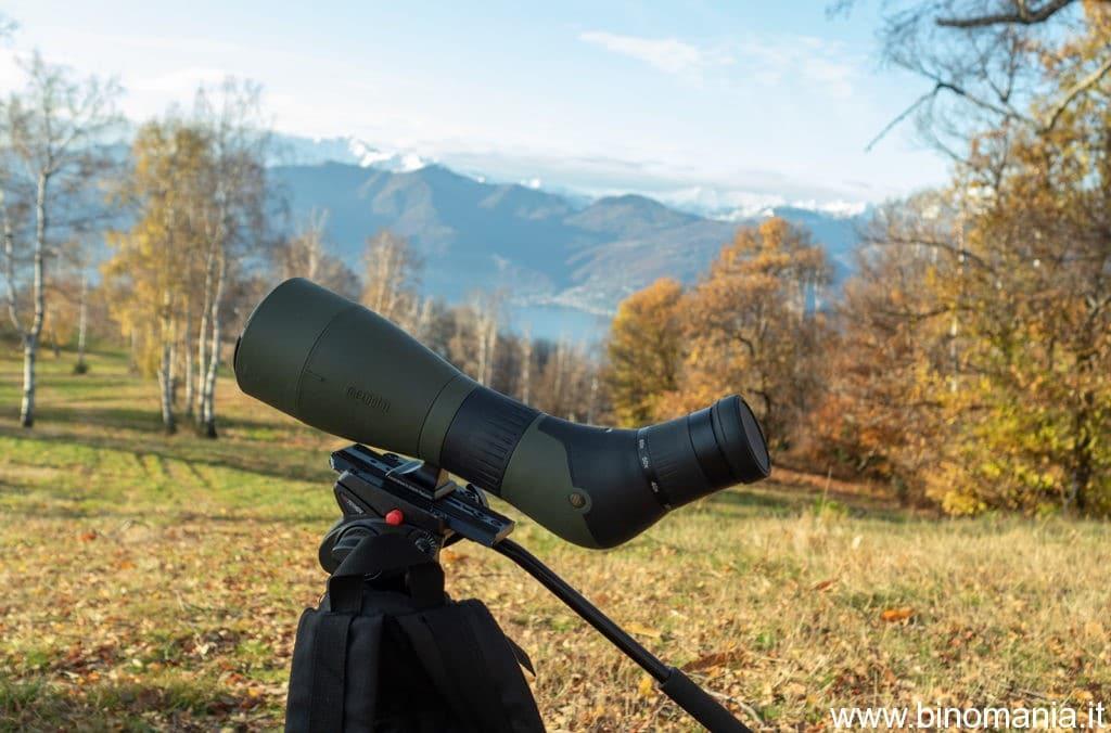 A 60X si vedevano agevolmente croci e rifugi presenti sulle Alpi Svizzere e Piemontesi, visibili sullo sfondo