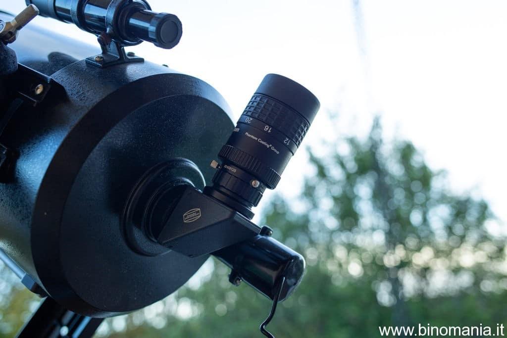 Una delle tante configurazione per collegare lo zoom Baader Mark IV al telescopio