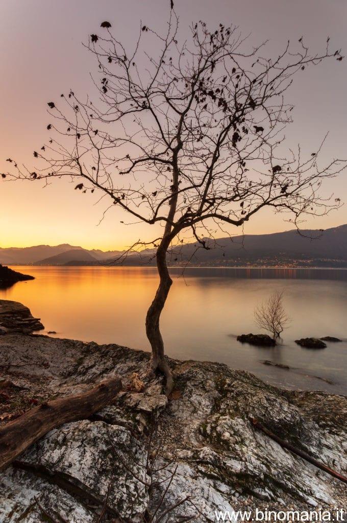 Fotografia di paesaggio ottenuta sulle rive del Lago Maggiore
