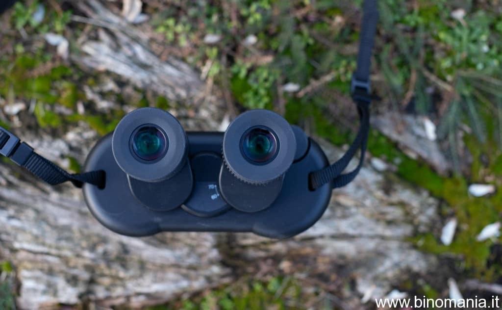 un particolare sugli oculari del Fujinon TS-X 14x40