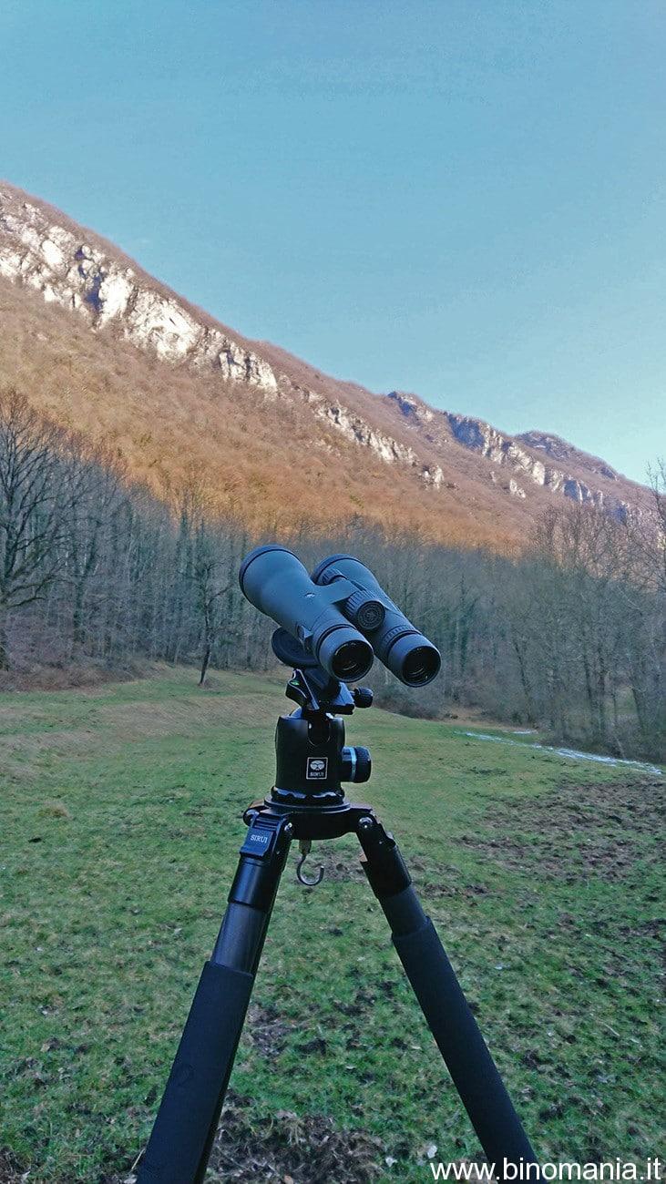 Diciotto ingrandimenti con due occhi, fruttano come 23-25x con uno spotting scope, ma l'immagine binoculare è decisamente piu'appagante