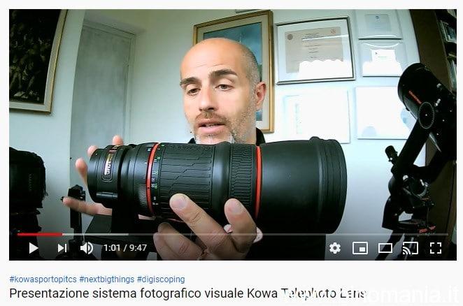 Presentazione video del sistema fotografico- visuale Kowa Telephoto Lens