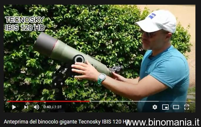 Anteprima del nuovo binocolo gigante angolato Tecnosky IBIS 120 HD