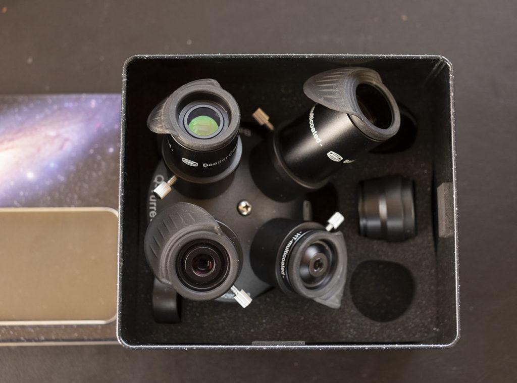 Rapida osservazione della Luna? Rifrattore da 80mm, 100 mm, montatura altazimutale e il Q-Turret di casa Baader