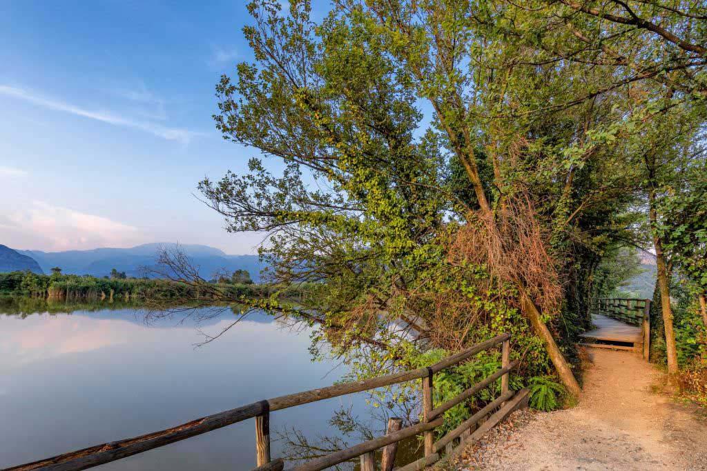 In questa oasi naturalistica è possibile compiere delle salubri passeggiate