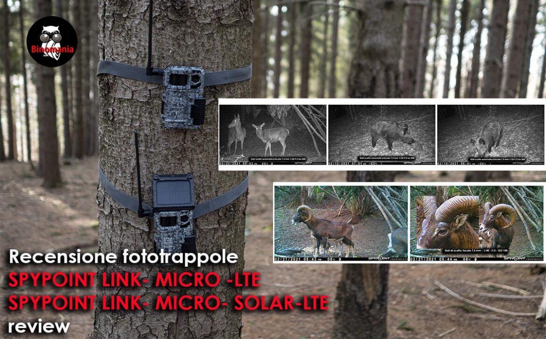 Recensione fototrappole Spypoint Link – Micro – LTE e Link – Micro SOLAR-LTE